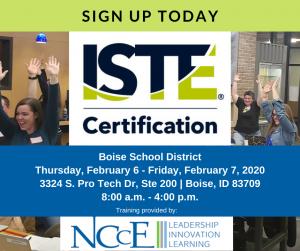 ISTE Cert Event Boise Feb 2020 FB