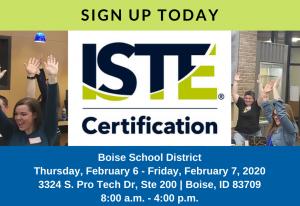 ISTE Boise Training Feb 2020