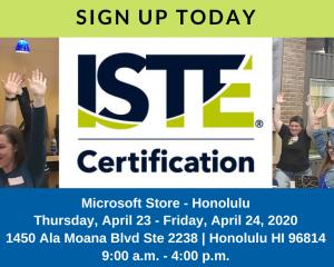 ISTE Honolulu April 2020