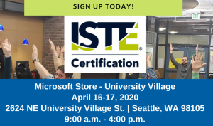ISTE Seattle Training April