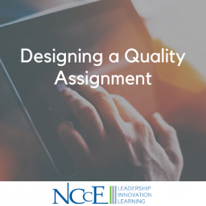 Designing a Quality Assignment
