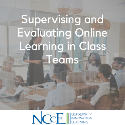 Supervising and Evaluating Online Learning in Class Teams